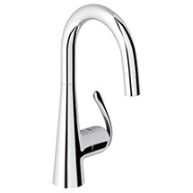 Grohe Zedra Kitchen Sink Mixer with Pull Down Mousseur Spray - Chrome - 32296000 Medium Image