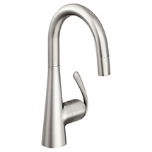 Grohe Zedra Kitchen Sink Mixer with Pull Out Spray - Stainless Steel - 32296SD0 Medium Image
