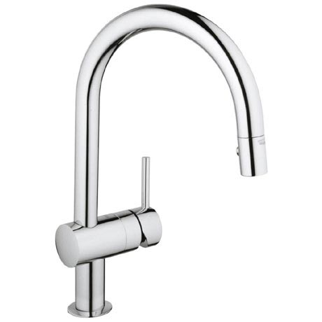 Grohe Minta Kitchen Sink Mixer with Pull Out Spray - Chrome - 32321000