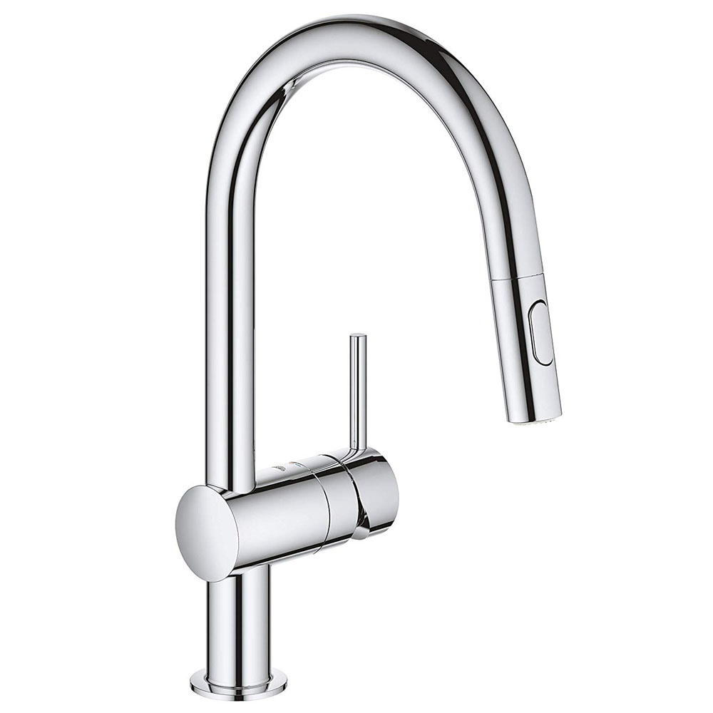 Grohe Minta Kitchen Sink Mixer with Pull Out Spray - Chrome - 32321002