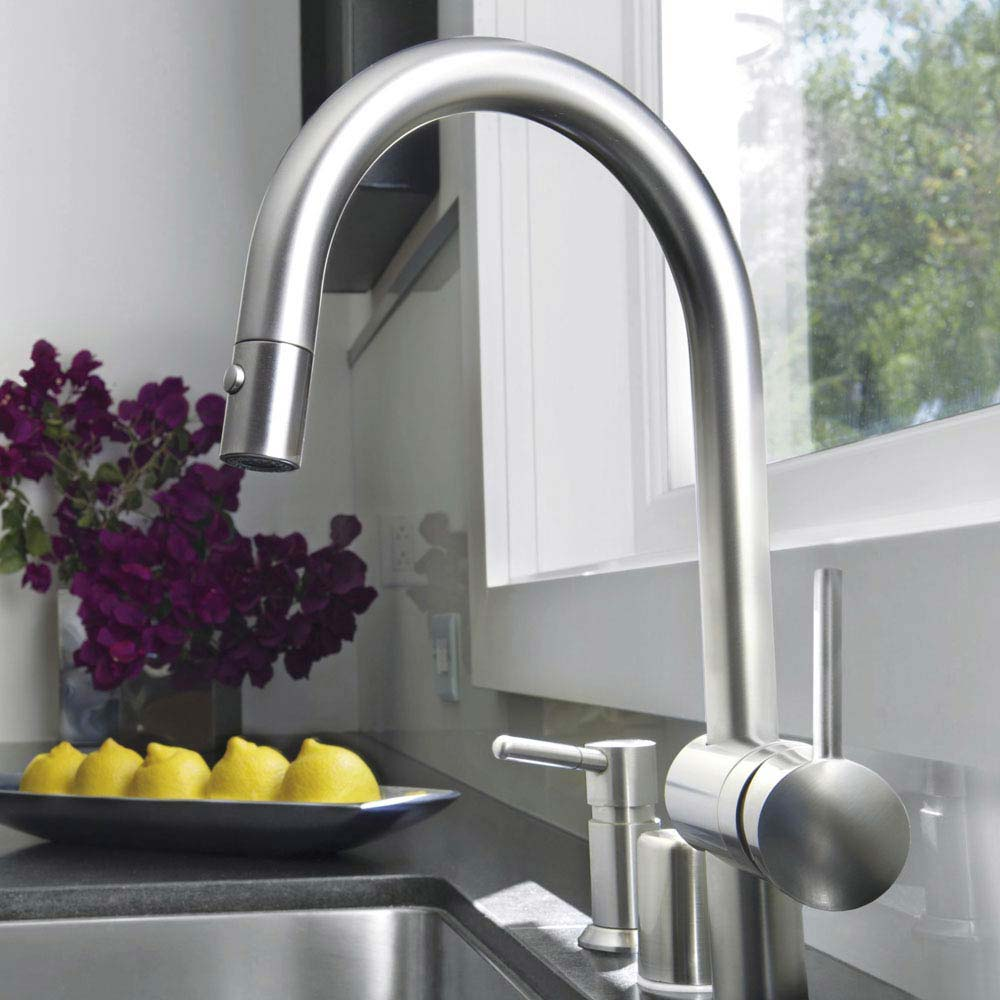 Grohe Minta Kitchen Sink Mixer with Pull Out Spray - SuperSteel - 32321DC0  Profile Large Image