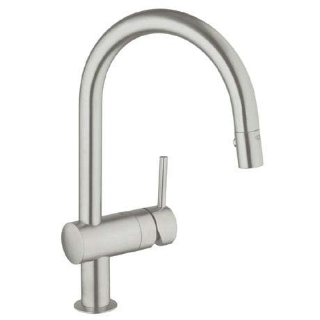 Grohe Minta Kitchen Sink Mixer with Pull Out Spray - SuperSteel - 32321DC0