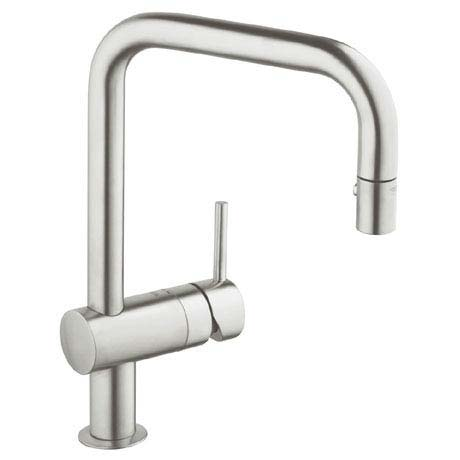 Grohe Minta Kitchen Sink Mixer with Pull Out Spray - SuperSteel - 32322DC0