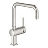 Grohe Minta Kitchen Sink Mixer - SuperSteel - 32488DC0 profile small image view 1