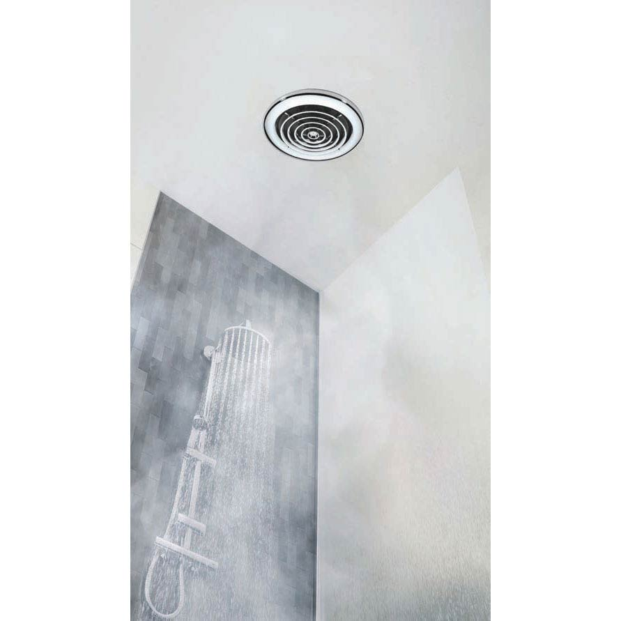 HIB Cyclone White Wet Room Inline Fan with LED Lights - Cool White - 32600 profile large image view 3