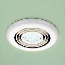 HIB Cyclone White Wet Room Inline Fan with LED Lights - Cool White - 32600 Medium Image