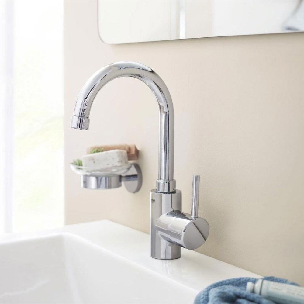 Grohe Concetto Swivel Spout Basin Mixer with Pop-up Waste - 32629001 profile large image view 2