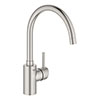 Grohe Concetto Kitchen Sink Mixer - SuperSteel - 32661DC3 profile small image view 1