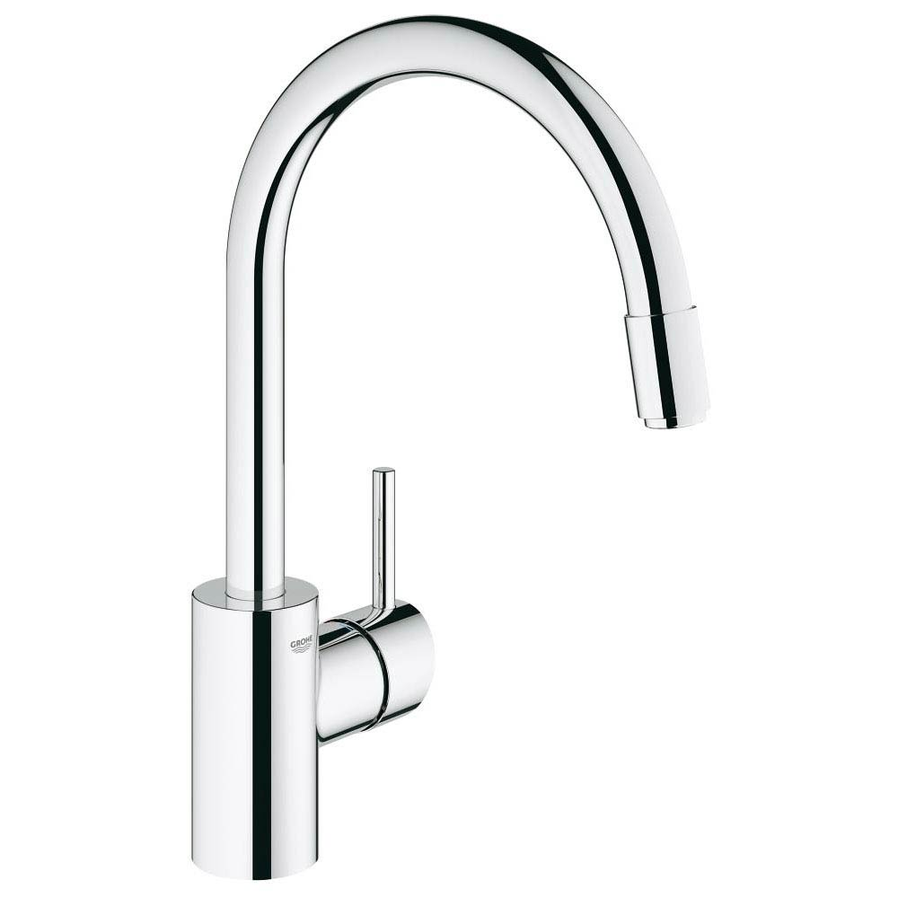 Grohe Concetto Kitchen Sink Mixer with Pull Out Spray - Chrome - 32663001 Large Image