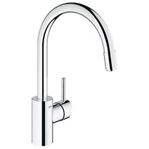 Grohe Concetto Kitchen Sink Mixer with Pull Out Spray - Chrome - 32663001 Medium Image