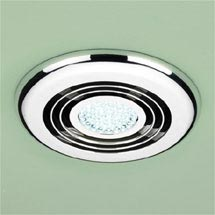 HIB Cyclone Chrome Wet Room Inline Fan with LED Lights - Cool White - 32700 Medium Image