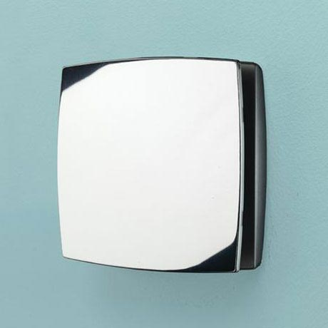 HIB Breeze Wall Mounted Bathroom Fan with Timer - Chrome - 32800 Large Image