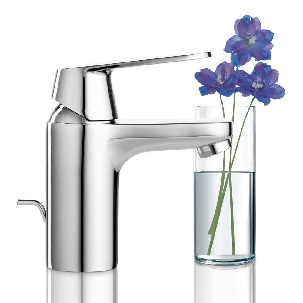 Grohe Eurosmart Cosmopolitan Mono Basin Mixer with Pop-up Waste - 32825000 profile large image view 2