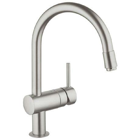 Grohe Minta Kitchen Sink Mixer with Pull Out Spray - SuperSteel - 32918DC0