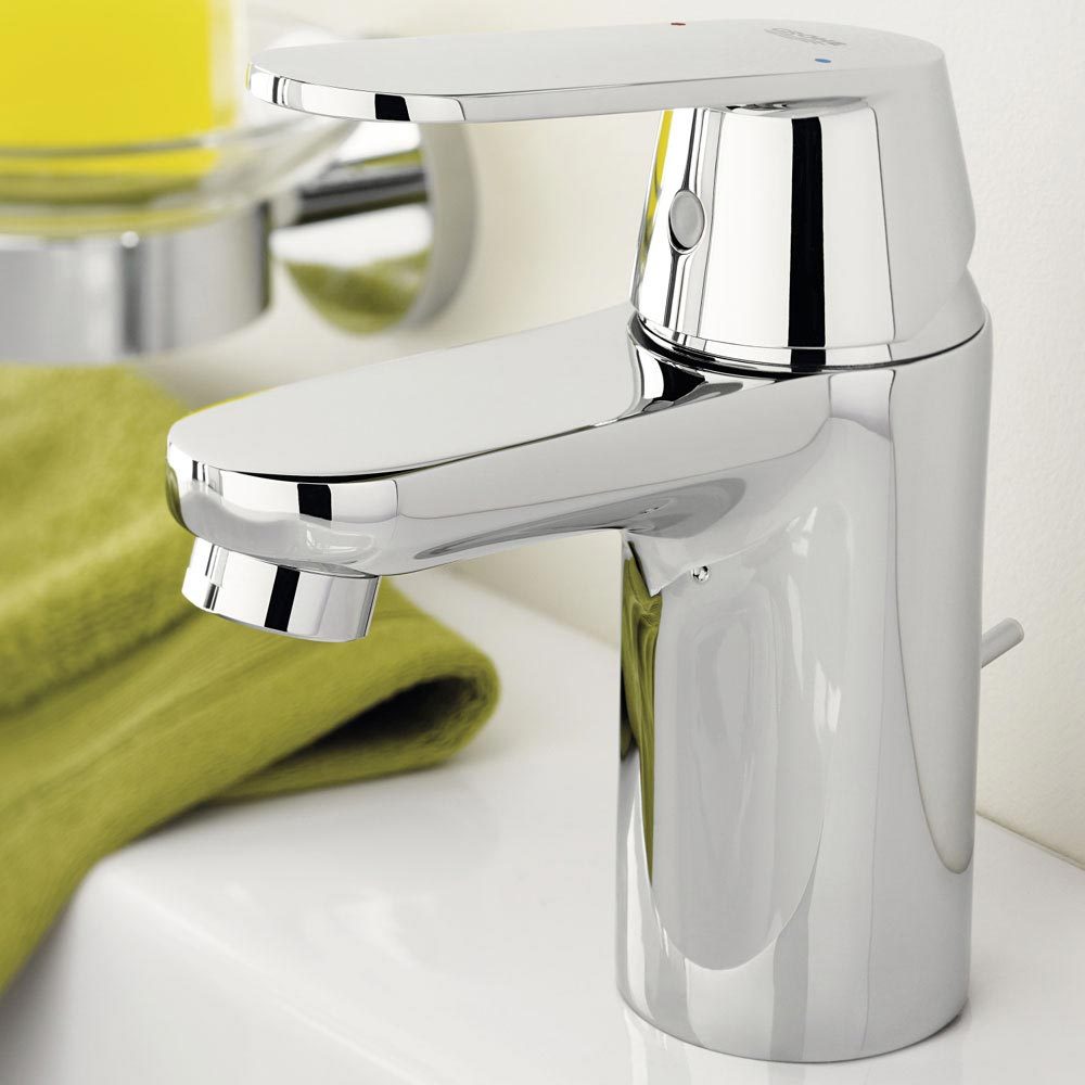 Grohe Eurosmart Cosmopolitan Mono Basin Mixer with Pop-up Waste - 32955000 profile large image view 4