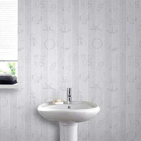 Graham Brown Nautical Grey Bathroom Wallpaper