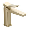 JTP Hix Brushed Brass Single Lever Basin Mixer profile small image view 1