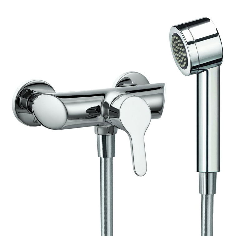 Laufen - Twin Pro Wall Mounted Shower Mixer with Kit Large Image