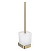 JTP Hix Brushed Brass Toilet Brush & Holder profile small image view 1
