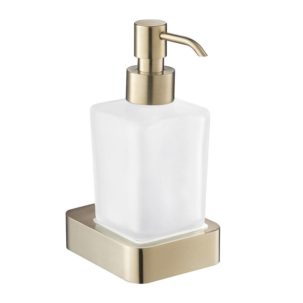 JTP Hix Brushed Brass Soap Dispenser