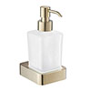 JTP Hix Brushed Brass Soap Dispenser profile small image view 1