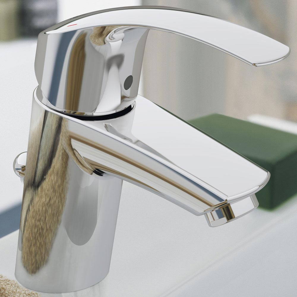 Grohe Eurosmart Mono Basin Mixer with Pop-up Waste - 33265002 profile large image view 2