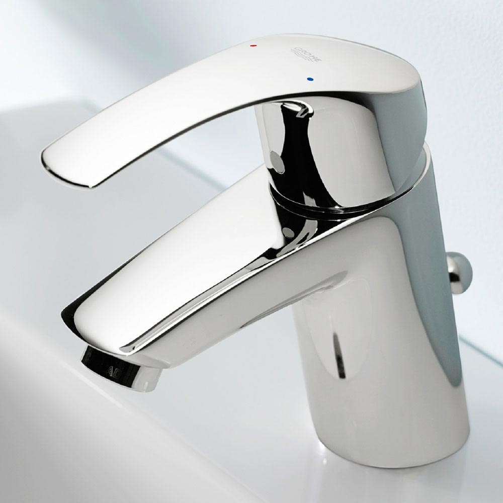 Grohe Eurosmart Mono Basin Mixer with Pop-up Waste - 33265002 profile large image view 3