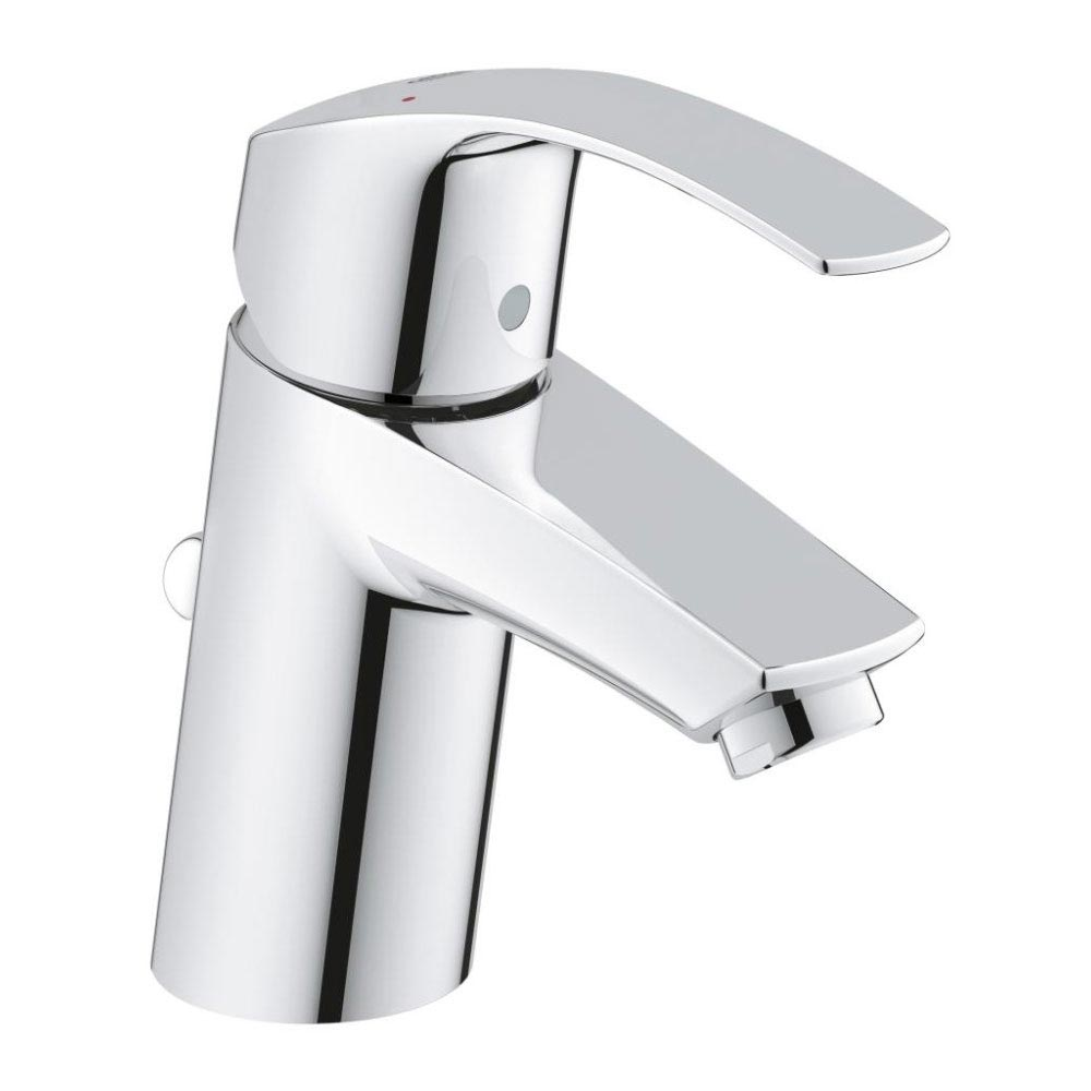 Grohe Eurosmart Mono Basin Mixer with Pop-up Waste - 33265002 profile large image view 1