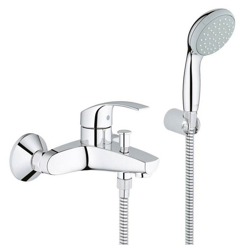 Grohe Eurosmart Wall Mounted Bath Shower Mixer and Kit - 33302002 Large Image