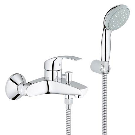 Grohe Eurosmart Wall Mounted Bath Shower Mixer and Kit - 33302002