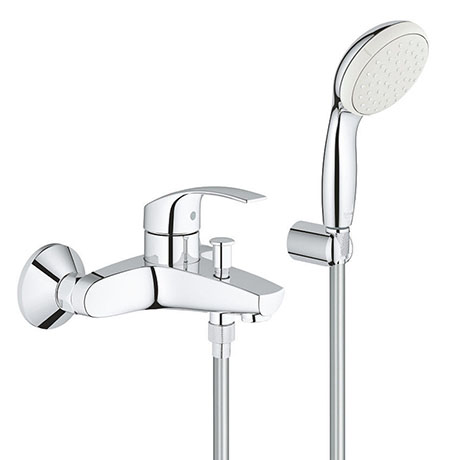 Grohe Eurosmart Wall Mounted Bath Shower Mixer and Kit - 3330220A