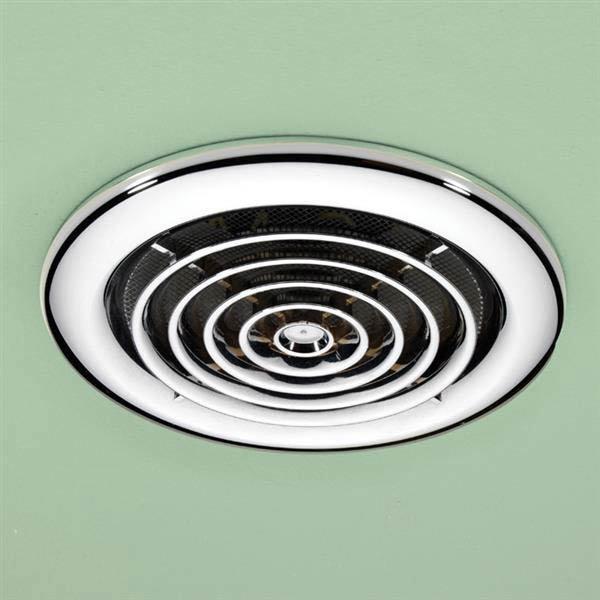 HIB Turbo Chrome Bathroom Inline Fan - 33600 profile large image view 1