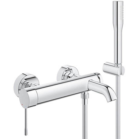 Grohe Essence Wall Mounted Bath Shower Mixer and Kit - 33628001