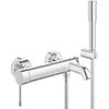 Grohe Essence Wall Mounted Bath Shower Mixer and Kit - 33628001 profile small image view 1