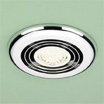 HIB Turbo Chrome Bathroom Inline Fan with LED Lights - Warm White - 33900 Medium Image