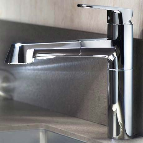 Grohe Europlus Kitchen Sink Mixer With Pull Out Spray