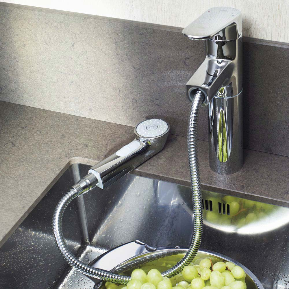 Grohe Europlus Kitchen Sink Mixer with Pull Out Spray - 33933002 profile large image view 3