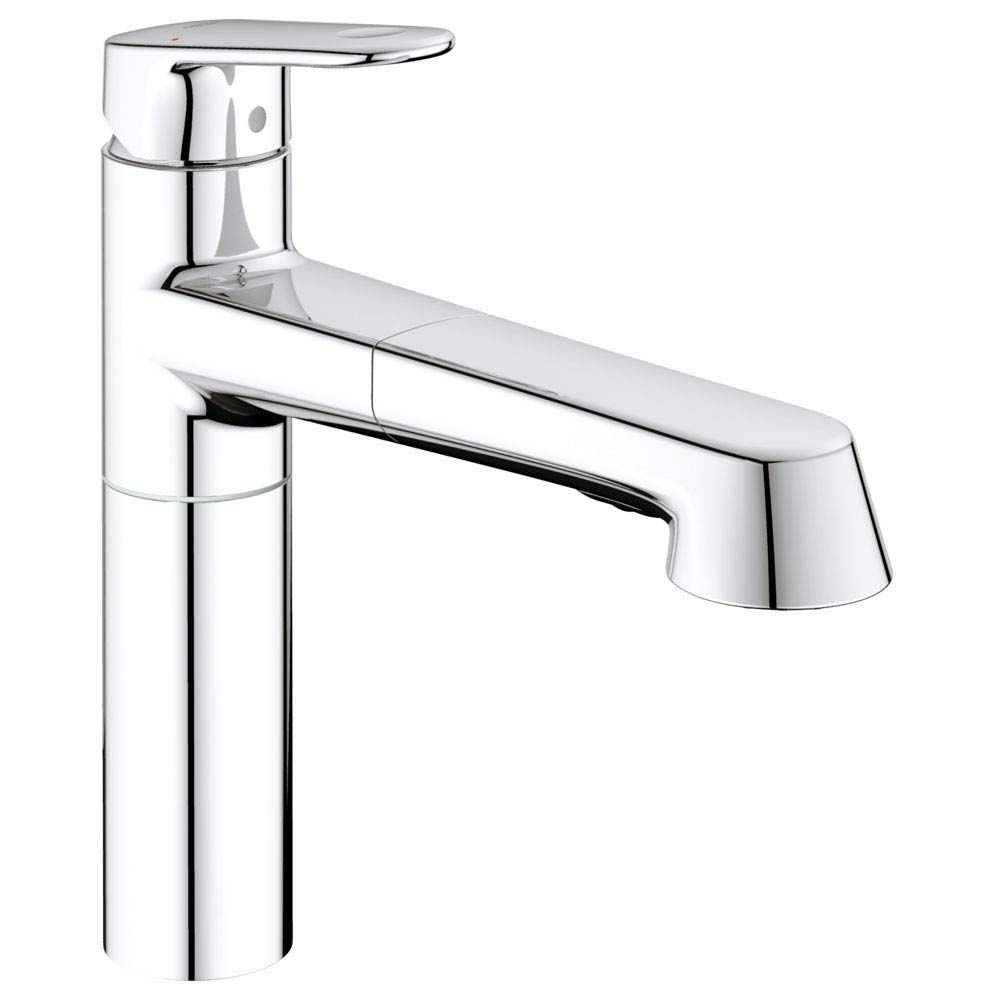Grohe Europlus Kitchen Sink Mixer with Pull Out Spray - 33933002 profile large image view 1
