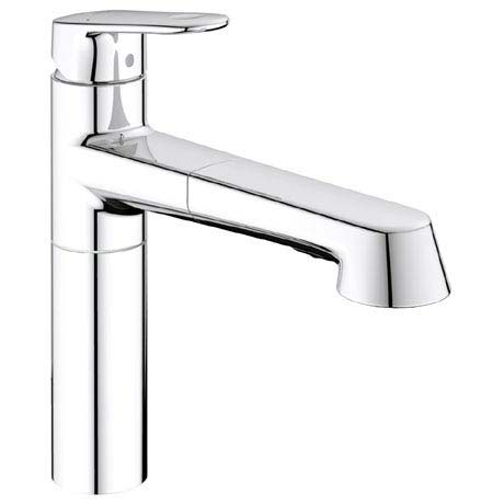 Grohe Europlus Kitchen Sink Mixer with Pull Out Spray - 33933002