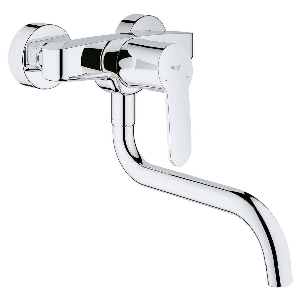 Grohe Eurostyle Cosmopolitan Wall Mounted Kitchen Sink Mixer - 33982002 profile large image view 1