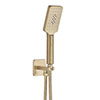 JTP Hix Brushed Brass Outlet Elbow with Parking Bracket, Hose & Handset profile small image view 1
