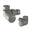 Tissino Hugo2 Double Angled Radiator Valves - Lusso Grey profile small image view 1