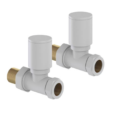 Tissino Hugo2 Straight Radiator Valves - Mont Blanc