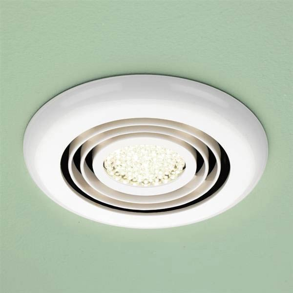 HIB Turbo White Bathroom Inline Fan with LED Lights - Warm White - 34000 Large Image