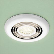 HIB Turbo White Bathroom Inline Fan with LED Lights - Warm White - 34000 Medium Image