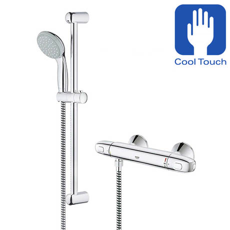 Grohe Grohtherm 1000 New Thermostatic Shower Mixer and Kit - 34151003