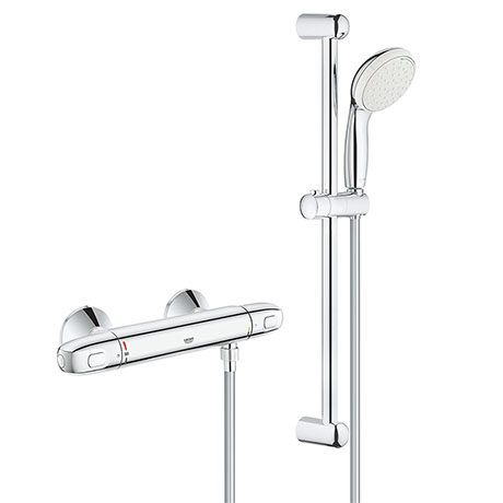 "Grohe Grohtherm 1000 Thermostatic Shower Mixer Tap 1/2"" with Shower Set - 34151004"