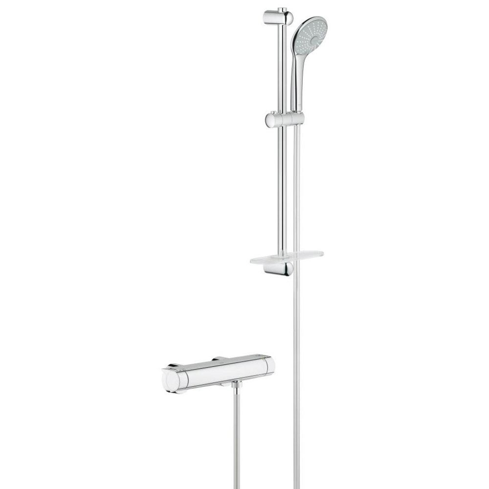 Grohe Grohtherm 2000 Thermostatic Shower Mixer and Kit - 34195001 Large Image