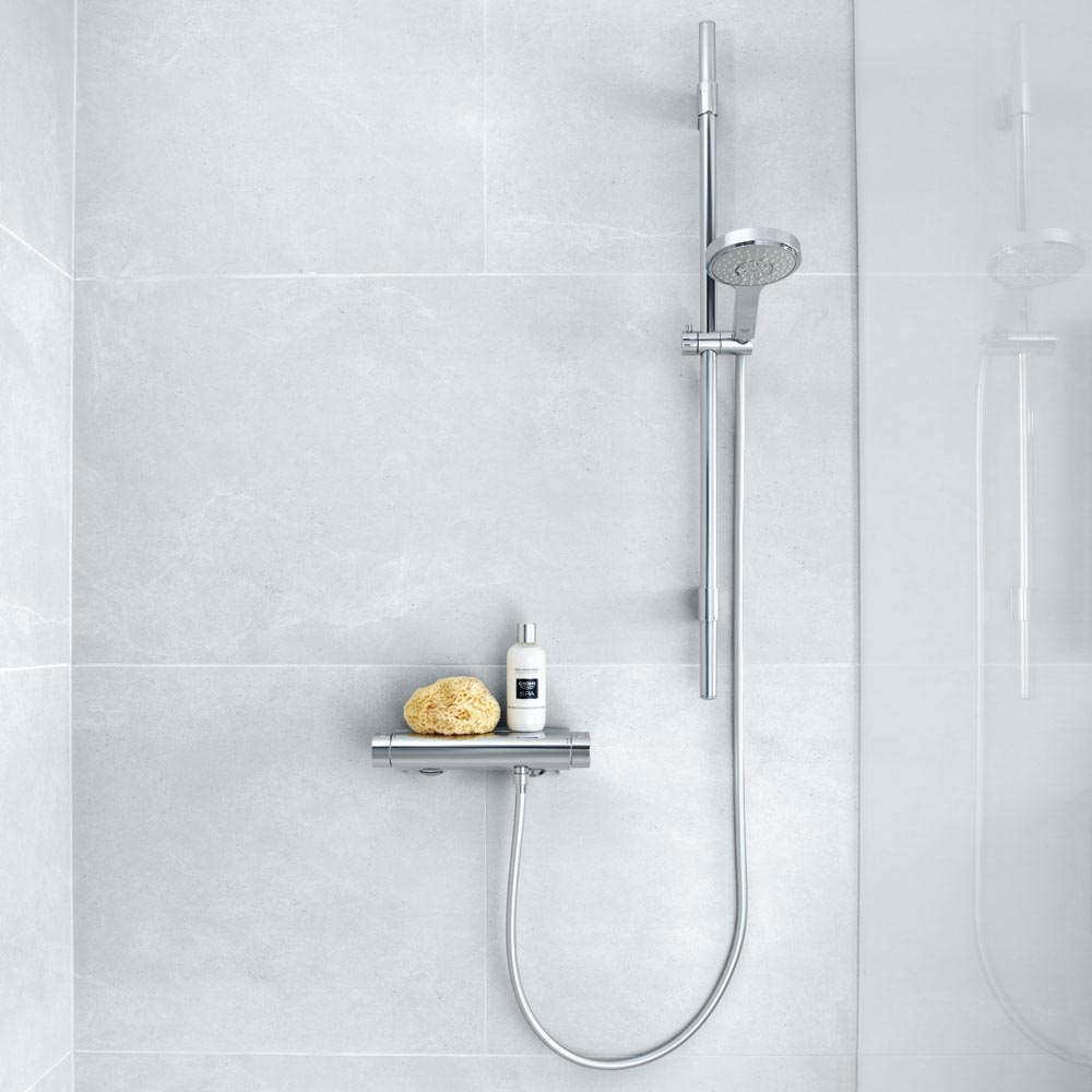 Grohe Grohtherm 2000 Thermostatic Shower Mixer and Kit - 34281001 profile large image view 4