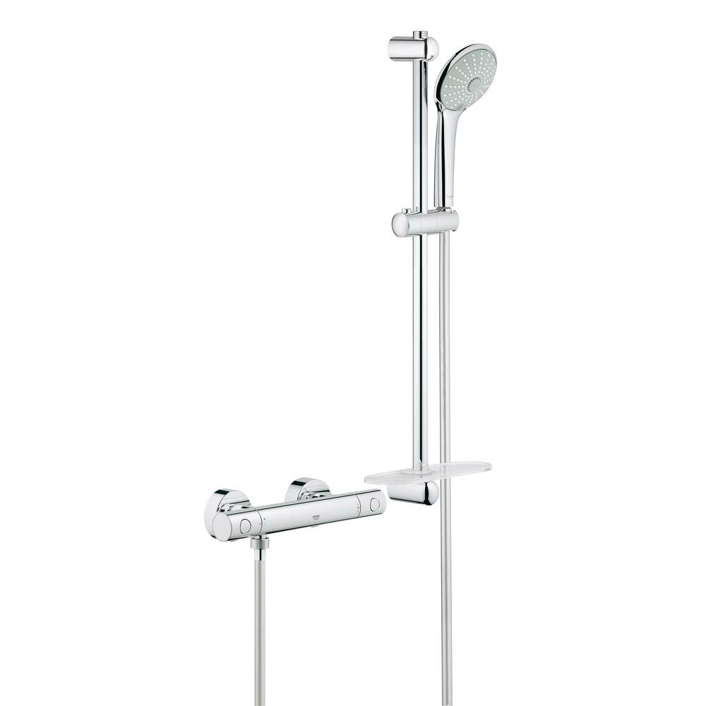 grohe 1000 thermostatic bath shower mixer. grohe grohtherm 1000 cosmopolitan m thermostatic shower mixer and kit - 34286002 bath a